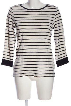 Part two Maglione girocollo bianco-nero motivo a righe stile casual