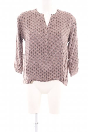 Part two Schlupf-Bluse pink-hellgrau abstraktes Muster Casual-Look