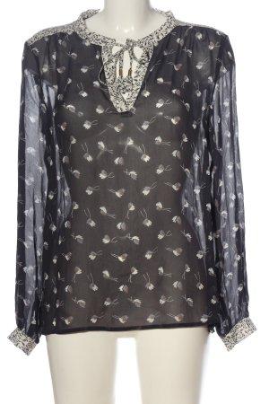 Part two Schlupf-Bluse schwarz-weiß abstraktes Muster Casual-Look