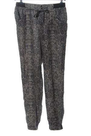 Part two Pantalone jersey grigio chiaro-nero stampa integrale stile casual