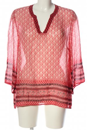 Part two Transparent Blouse allover print casual look