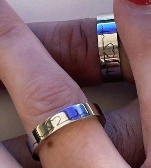 partnerringe mit herzschlag in silber