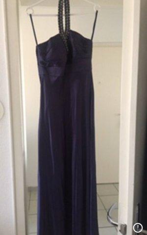 Laura Scott Empire Dress blue violet satin