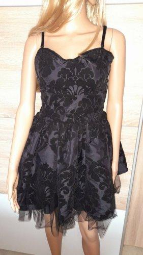 Robe bustier noir tissu mixte
