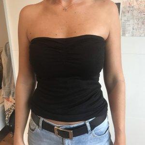 Blind Date Top a fascia nero-argento