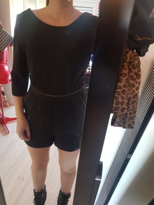 Pimkie Hot pants zwart-lichtgrijs Polyester