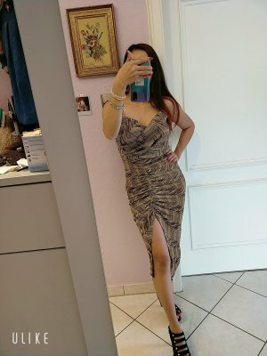 beauty fashion Evening Dress grey brown