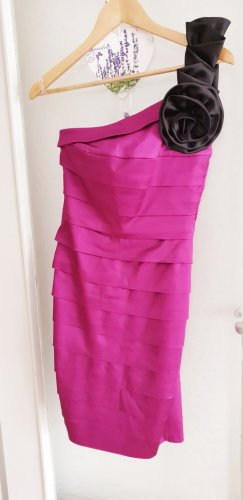 One Shoulder Dress magenta