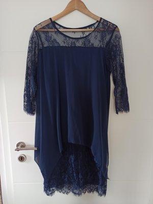 Szyfonowa sukienka niebieski-ciemnoniebieski