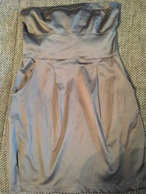 Party - Kleid der Trendmarke Stradivarius, Gr. S, anthrazit-glänzig