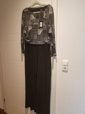 DKNY Langer Jumpsuit nero-bianco sporco