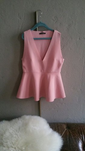 Zara Peplum Top pink
