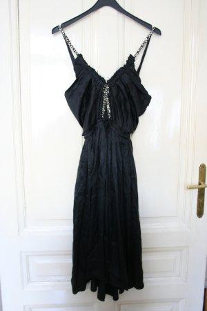 Chloé Vestido cut out negro Seda