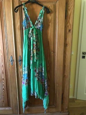 Robe Hippie vert clair soie