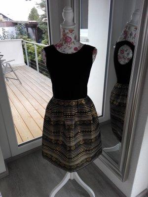 BODY FLIRT Suknia wieczorowa czarny-złoto