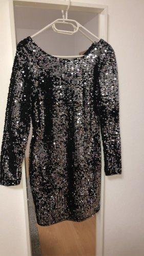Vera & Lucy Sequin Dress black-silver-colored