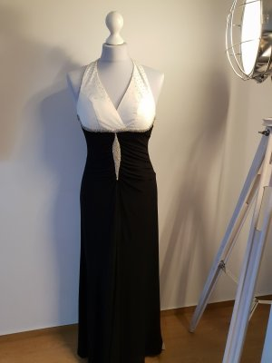 Apart Cekinowa sukienka biały-czarny