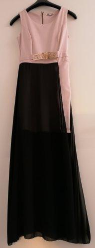 Sukienka bez ramiączek czarny-w kolorze różowego złota