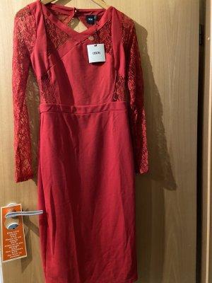 Asos Sukienka z wycięciem czerwony
