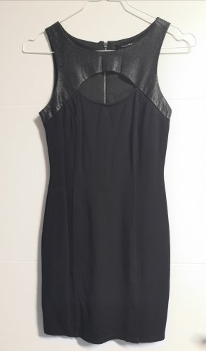 Tally Weijl Vestido de cuero negro