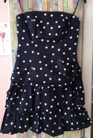Partykleid dunkelblau mit Pünktchen