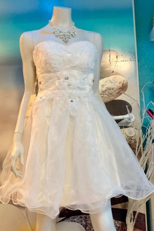 Grace Karin Corsage Dress natural white
