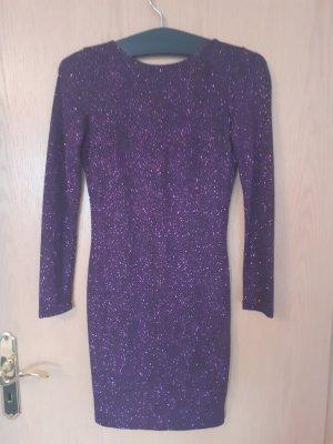 Hennes & Mauritz Sukienka z wycięciem fioletowy-ciemny fiolet