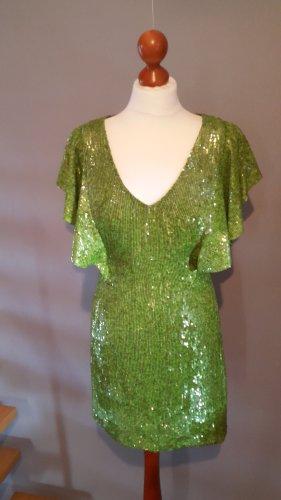 Vestido de lentejuelas verde hierba