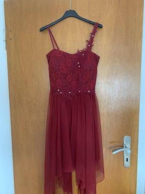 Fringed Dress dark red