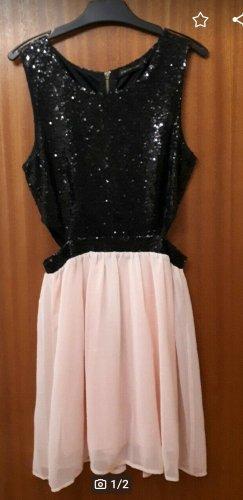 Colloseum Cut Out Dress black-pink