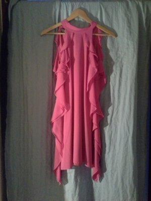 Apart  glamour Halterjurk roze-neonroos Polyester