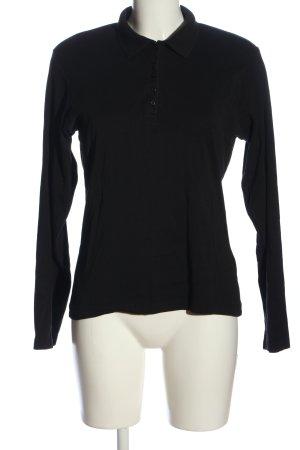 Pascarel De Luxe Lang shirt zwart casual uitstraling