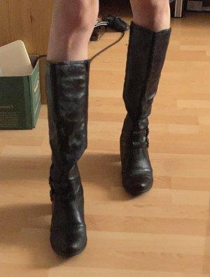 Pascottini High Heel Stiefel 39 schwarz y2k
