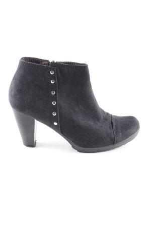 Pascottini Reißverschluss-Stiefeletten schwarz Elegant
