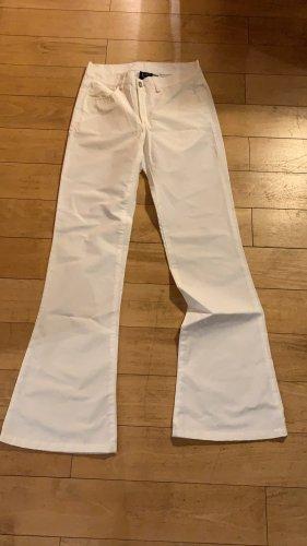 Pantalone a zampa d'elefante bianco