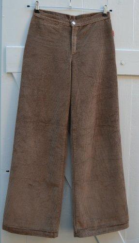 Pash Vintage 90er Cordhose High Waist Marlenehose Hose Cord braun Gr. 29 / 36