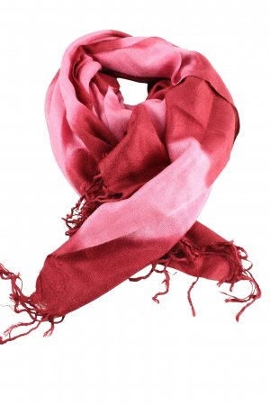 Pashmina Bufanda de flecos rosa-rojo degradado de color look casual
