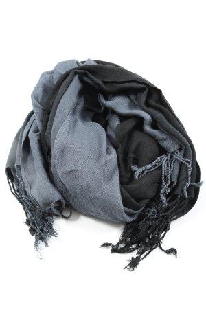 Pashmina Fringed Scarf black-light grey casual look
