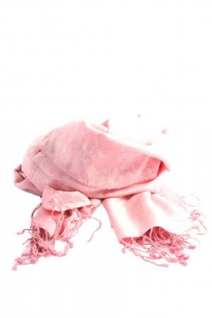 Pashmina Fringed Scarf pink casual look