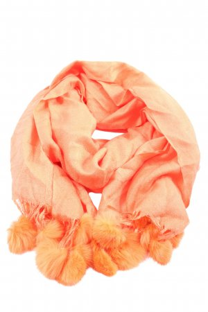 Pashmina Fringed Scarf light orange elegant