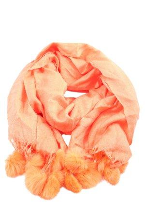 Pashmina Bufanda de flecos naranja claro elegante