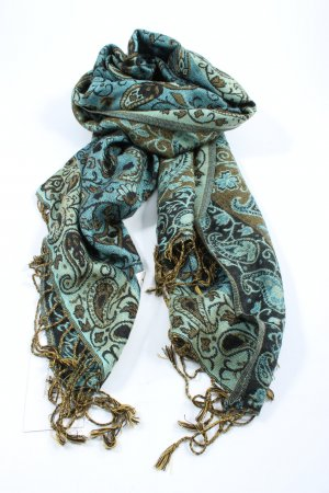 Pashmina Fringed Scarf allover print casual look