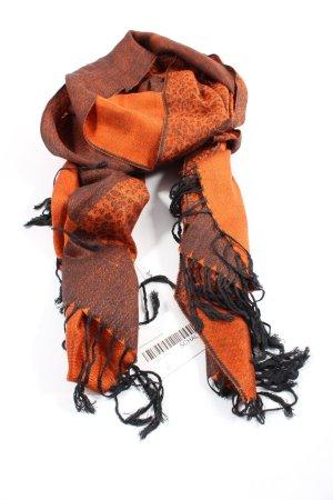 Pashmina Fringed Scarf light orange-brown animal pattern casual look