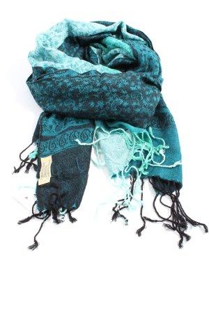 Pashmina Bufanda de flecos estampado con diseño abstracto look casual