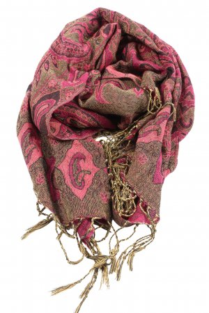 Pashmina Fringed Scarf abstract pattern street-fashion look