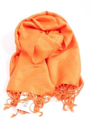 Pashmina Fringed Scarf light orange casual look