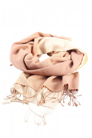 Pashmina Fringed Scarf nude casual look