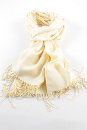 Pashmina Écharpe à franges jaune primevère style décontracté