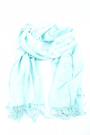 Pashmina Fringed Scarf blue casual look