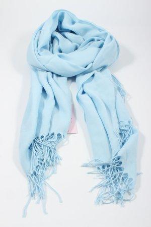 Pashmina Fringed Scarf blue elegant